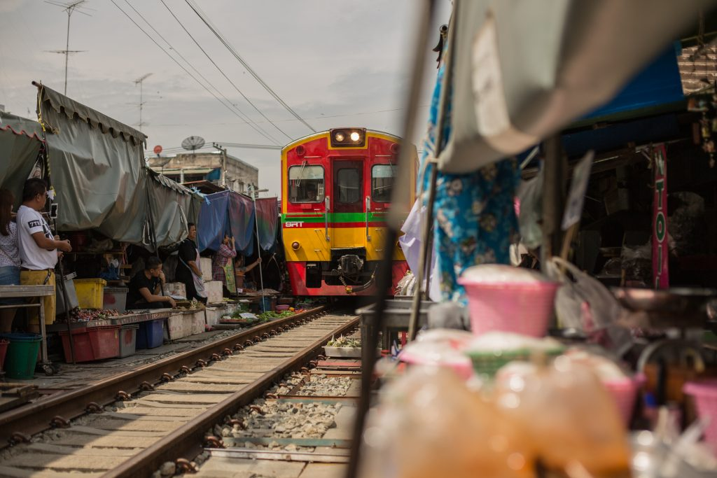 Maeklong Railway train